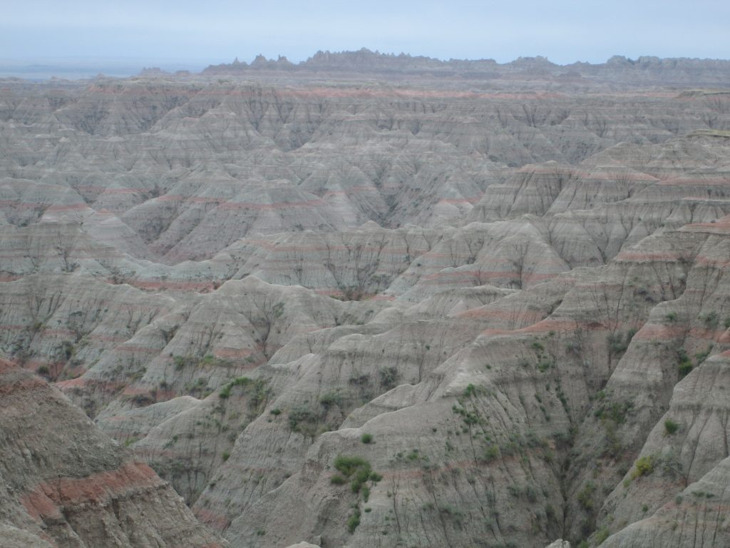 View of unending badlands formations from South Dakota's Badlands National Park. This photo illustrates this barren and hopeless time in the author's life due to an insurmountable professional workload.