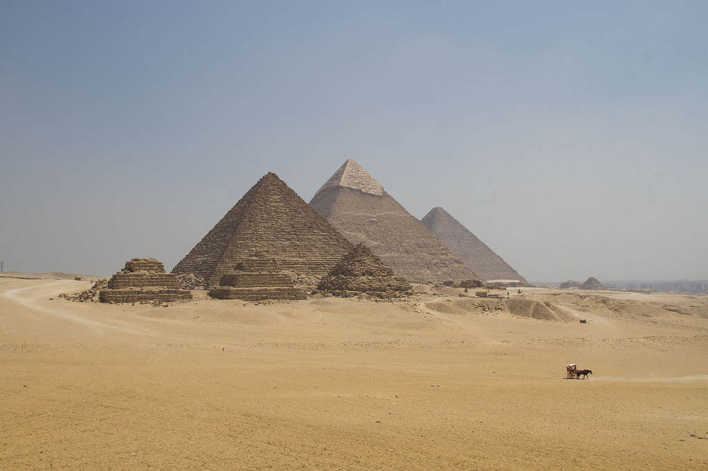 The Great Pyramids of Giza, one of the original 7 Wonders of the Ancient World. The photo illustrates the great impact that financial intentionality has on personal finance.