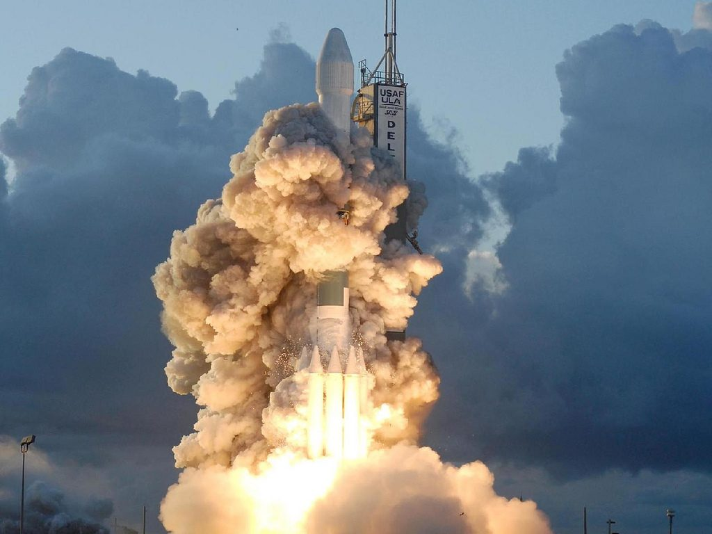 A rocket pictured mid-launch, demonstrating the acceleration and sheer power of compound interest.