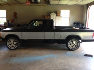 Our 1991 Chevy S10, prior to bed removal.