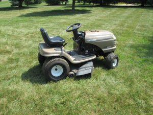 Our Craftsman LTX1000 lawn tractor.